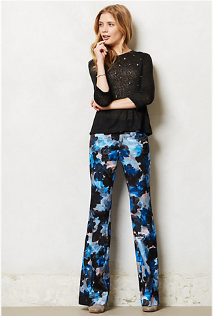 Anthropologie Floral Wide Legs, $138.