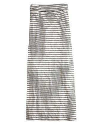 J.Crew Striped Maxi Skirt, $65.