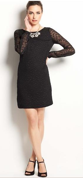 Ann Taylor Polka Dot Shift Dress.