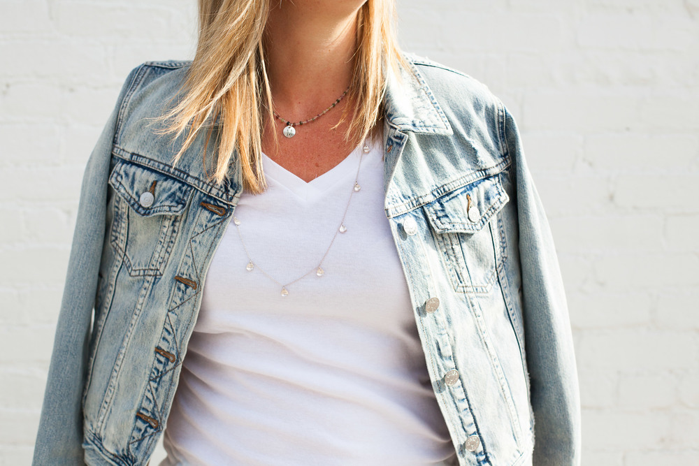 outfit details ::  jacket  //  tee  //  initial necklace  // long necklace (no longer avail,
