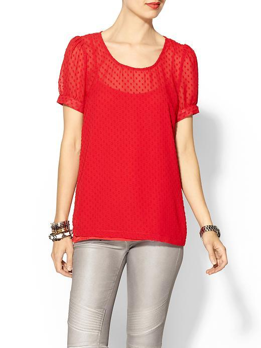 red - blouse