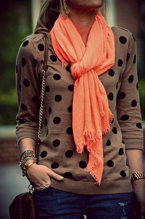 scarf - pop of color